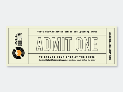 ATL Collective Ticket print atlanta concert music ticket