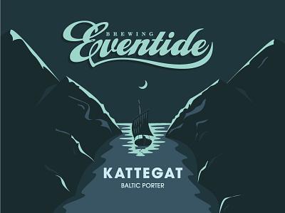 Eventide's Kattegat Can Design atlanta atl mountains boat kattegat illustration packaging can beer