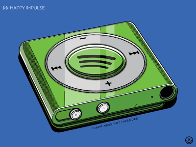 Spotify spotify mp3 mp3 player music play illustration happyimpulse happy impulse