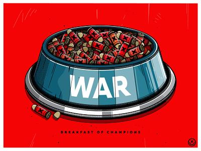 War Dogs dog bowl bullets war illustration happyimpulse happy impulse