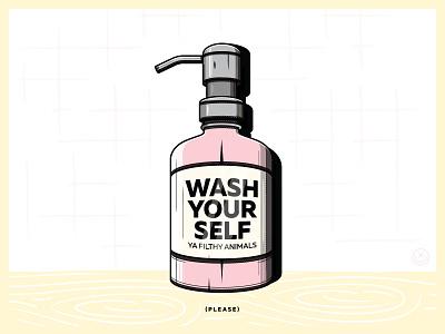 Wash your Self By Happy Impulse play creative bubbles soap wash happyimpulse illustration happy impulse