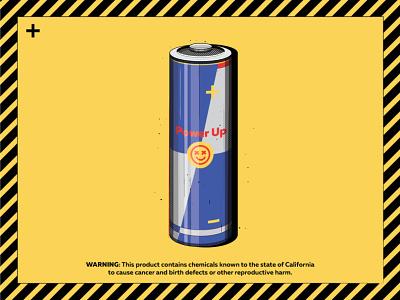 Power Up power energy drink creative illustration battery happyimpulse happy impulse
