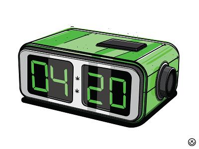 4:20 O'Clock time 420 weed clock creative play playful illustration happyimpulse happy impulse