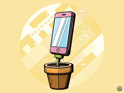 Photosynthesis technology phone plant playingarts creative playful illustration happyimpulse happy impulse