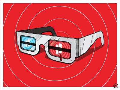 Brainwashing Glasses playful happyimpulse illustration brainwashing brainwash 3d glasses happy impulse
