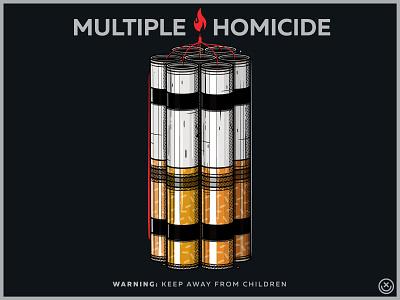 Multiple Homicide smoke bad habits vector cigarette smoking illustration happyimpulse happy impulse