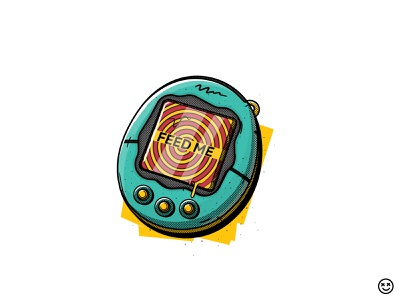 Feed Me brainwashing happy impulse happyimpulse tamagotchi toy feed play game