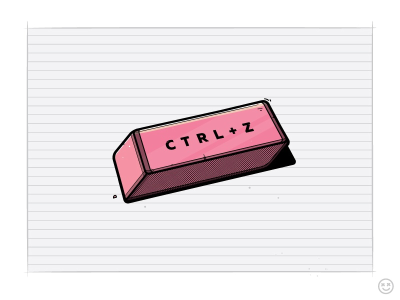 Ctrl + Z mistake paper erase happyimpulse happy impulse rubber eraser undo