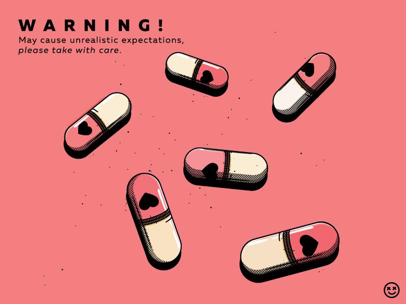 Love Drug tablet dose happyimpulse happy impulse pill passion lust infatuation love pharmaceutical stimulant prescription narcotic pills addiction drug medicine
