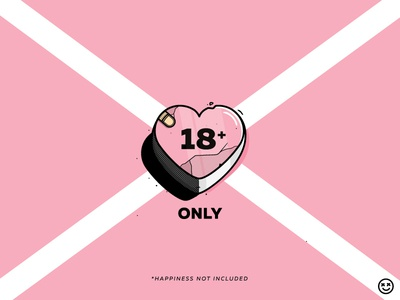 Adults Only happiness not included only 18 adults happy impulse happyimpulse illustration pain heart love