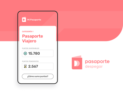 Pasaporte Despegar ui ux loyalty program travel logo despegar branding
