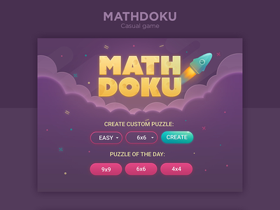 MathDoku game casual arkadium mathdoku sudoku ui game