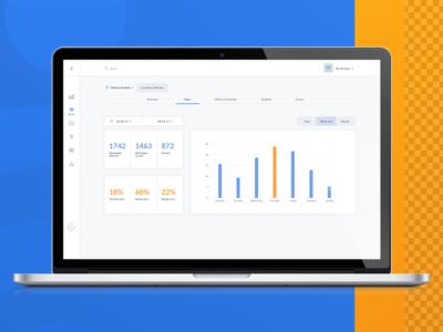 OCMP — Omni Channel Marketing Platform marketing managament wifi data web app analytic infographic illustration ui interface