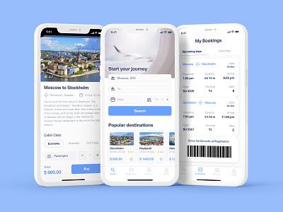 Flight booking application online store travel  booking app travel app flights app air tickets app booking app e-commerce ios app design uxui design mobile app design figma