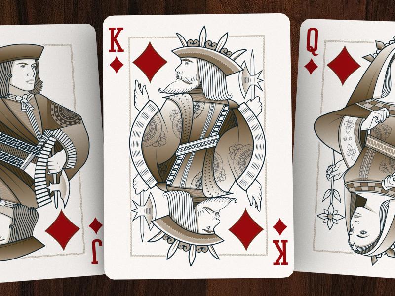 The Diamonds origins playing cards