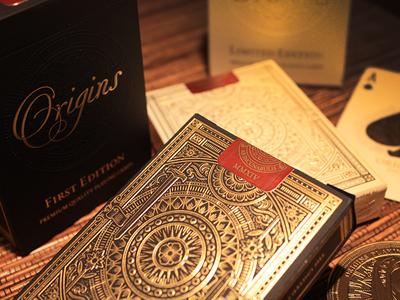 Final Origins decks origins cards playing embossed gold