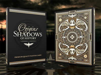 Origins Playing Cards etched embossed foil tuck playing cards