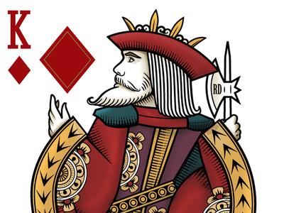 King of Diamonds detail