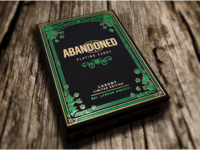 Dynamo Abandoned Playing Cards ornate embossing foil dynamo playing cards