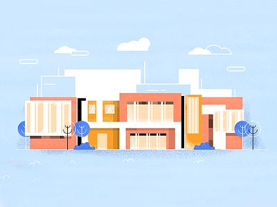 Buildings home illustration buildings