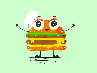 Hug me! <3 hug love character-design burger