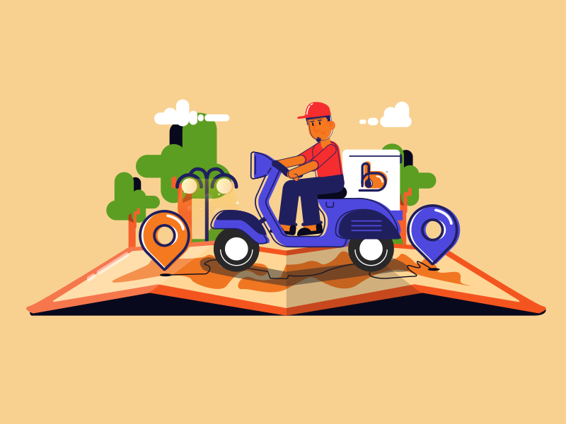 Delivery boy by salman on Dribbble
