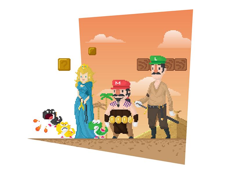Super Mario Got By Anthony Mendes On Dribbble