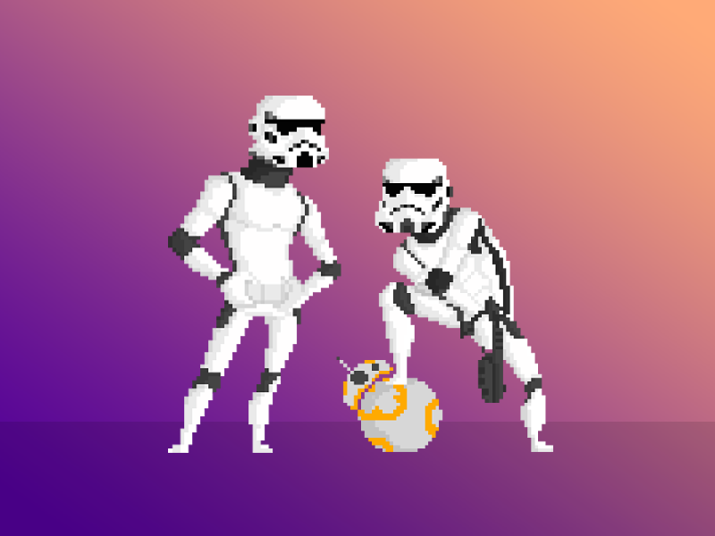 Old School Storm Troopers By Anthony Mendes On Dribbble