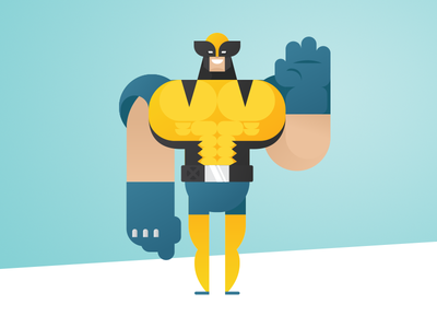 Geometric Superheroes: Wolverine geometric art minimalistic design comics wolverine marvel fan art vector character flat illustration design