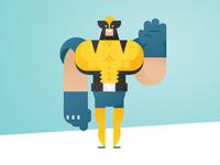 Geometric Superheroes: Wolverine