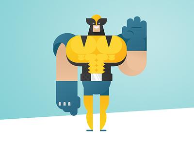 Geometric Superheroes: Wolverine geometric art minimalistic design comics wolverine marvel fan art vector character flat illustration design
