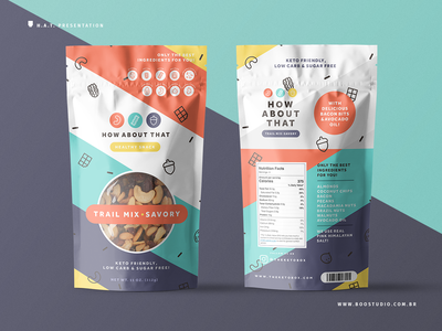 Trail Mix Packaging food snacks healthy food healthy health trail mix line art flat vector logo branding packaging mockup packaging design