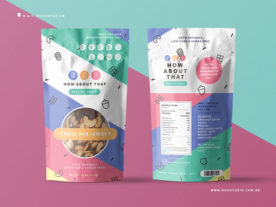 Trail Mix Packaging V2 package colorful snacks healthy food healthy health trail mix sweet packaging mockup packaging packaging design colorful design flat logo branding design