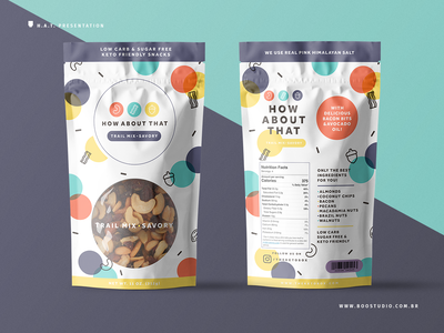 Trail Mix Packaging Project - Process 1 vector branding brand and identity package mockup line art geometric snacks healthy healthy food trail mix packaging design packaging logo