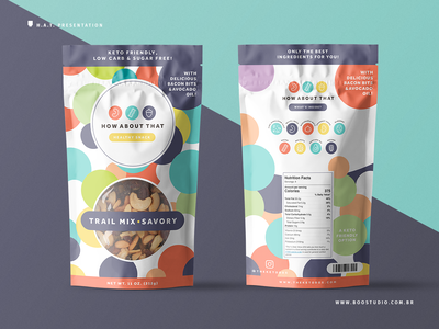 Trail Mix Packaging Project - Process 2 healthy healthy food snack food trail mix vector logo vibrant colorfull geometric package mockup brand identity brand packaging design packaging package graphic  design