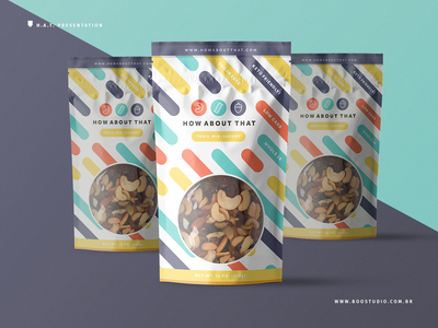 Trail Mix Packaging Project - Process 3 packaging design flat modern colorfull vibrant geometric brand identity brand logo packaging mockup snacks healthy food package packaging