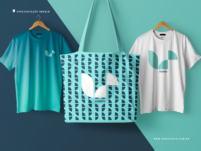 Skeelo Iteration 2b bag t-shirt minimalist geometric squirrel illustratior brand identity logo typography branding design
