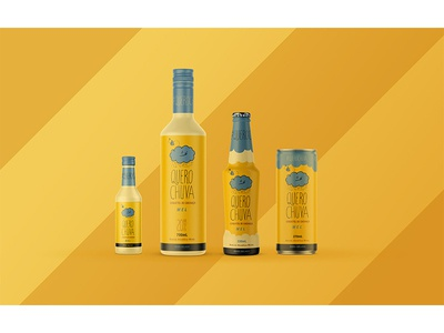 Cachaça Chuva Packaging: Honey branding design cute packaging cloud logo design branding alcohol
