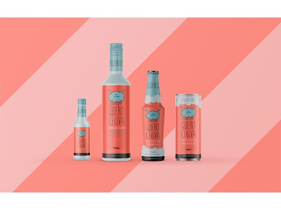 Cachaça Chuva Packaging: Cinnamon packaging can cinnamon cute design logo branding alcohol branding party alcohol