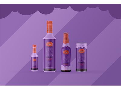 Cachaça Chuva Packaging: Açai & Guaraná design cute branding bar party logo packaging branding agency alcohol