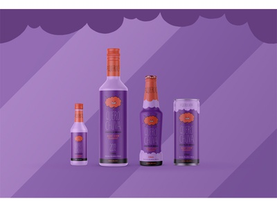 Cachaça Chuva Packaging: Açai & Guaraná design cute branding bar party logo packaging branding agency alcohol