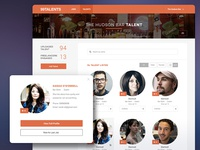 Talent social networking service concept