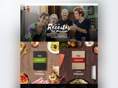 Recipes landing page to promote a Brazilian soap opera web design landing page recipes