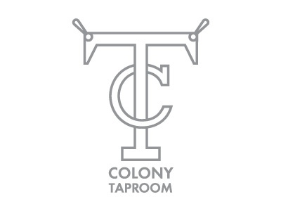 Colony Taproom restaurant taproom brewpub beer vector monogram illustration graphic design logo design logo
