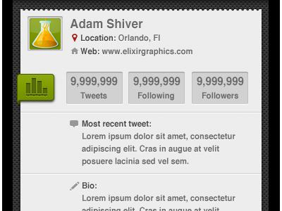 User Info green twitter kiwi
