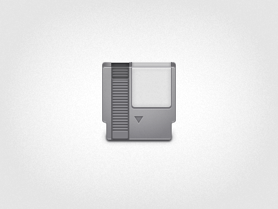 Game On game cartridge nintendo gray icon