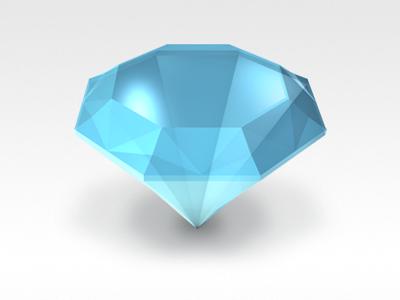 Diamond diamond blue shiny