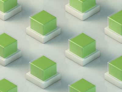 Energy Cubes green cubes 3d cinema4d