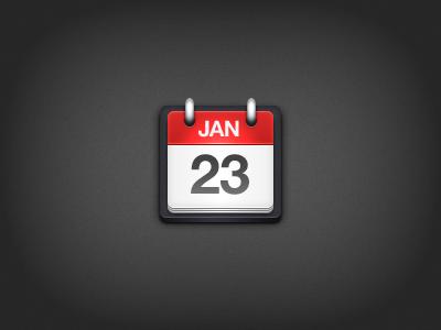 Calendar calendar red white black date