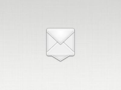 Icon idea envelope talk chat bubble white gray icon